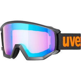 UVEX Athletic CV Goggles, black mat/colorvision blue energy